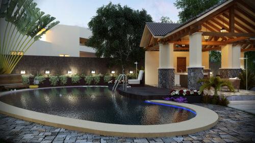 Thiết kế biệt thự nghỉ dưỡng độc đáo – Nhà vườn một tầng